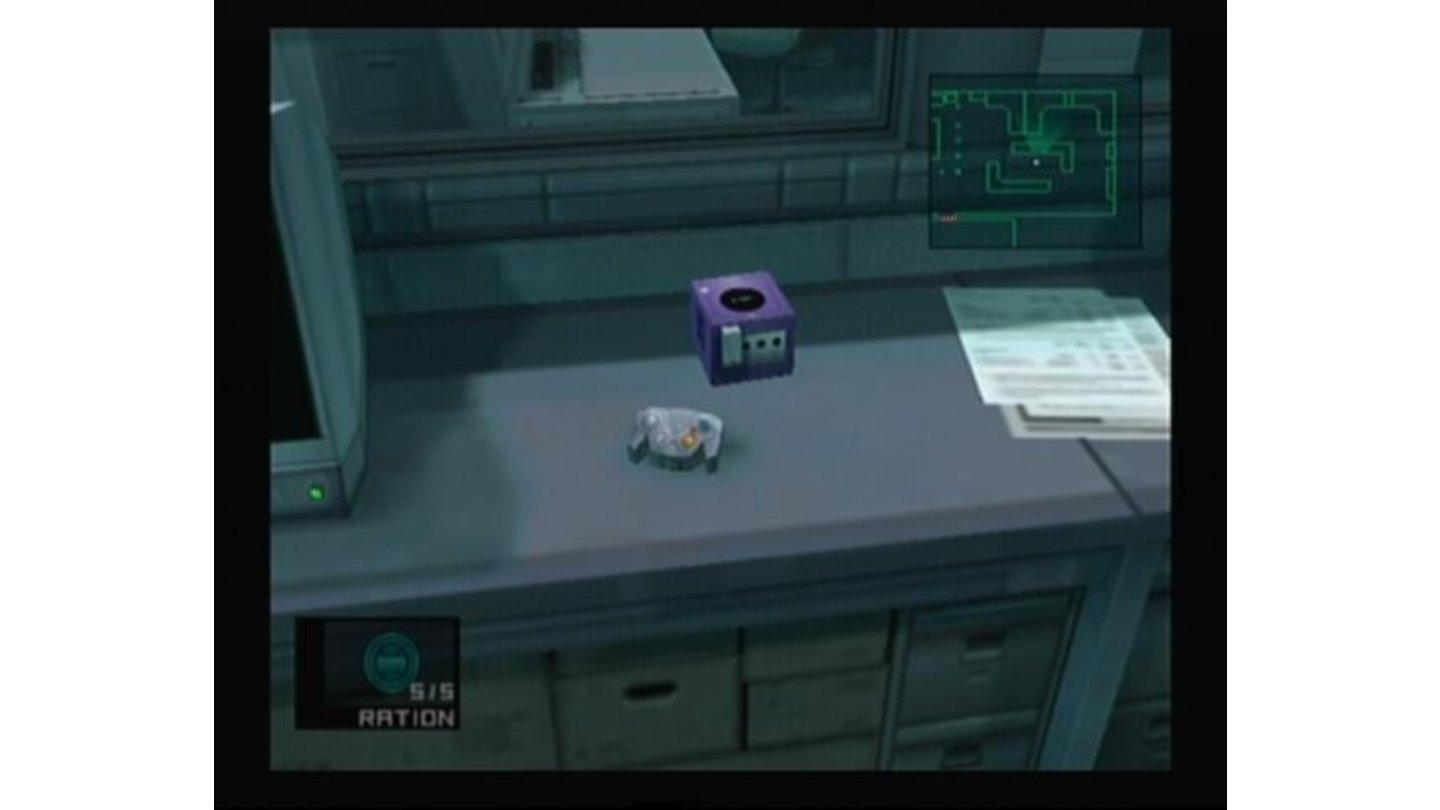 Snake would perhaps consider playing something on silver GameCube, but on purple... mmm.
