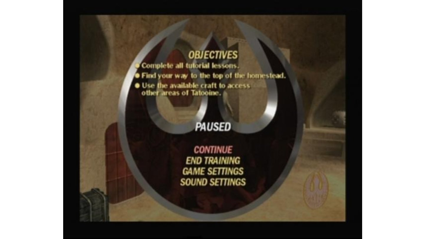 Pause the game to see mission objectives
