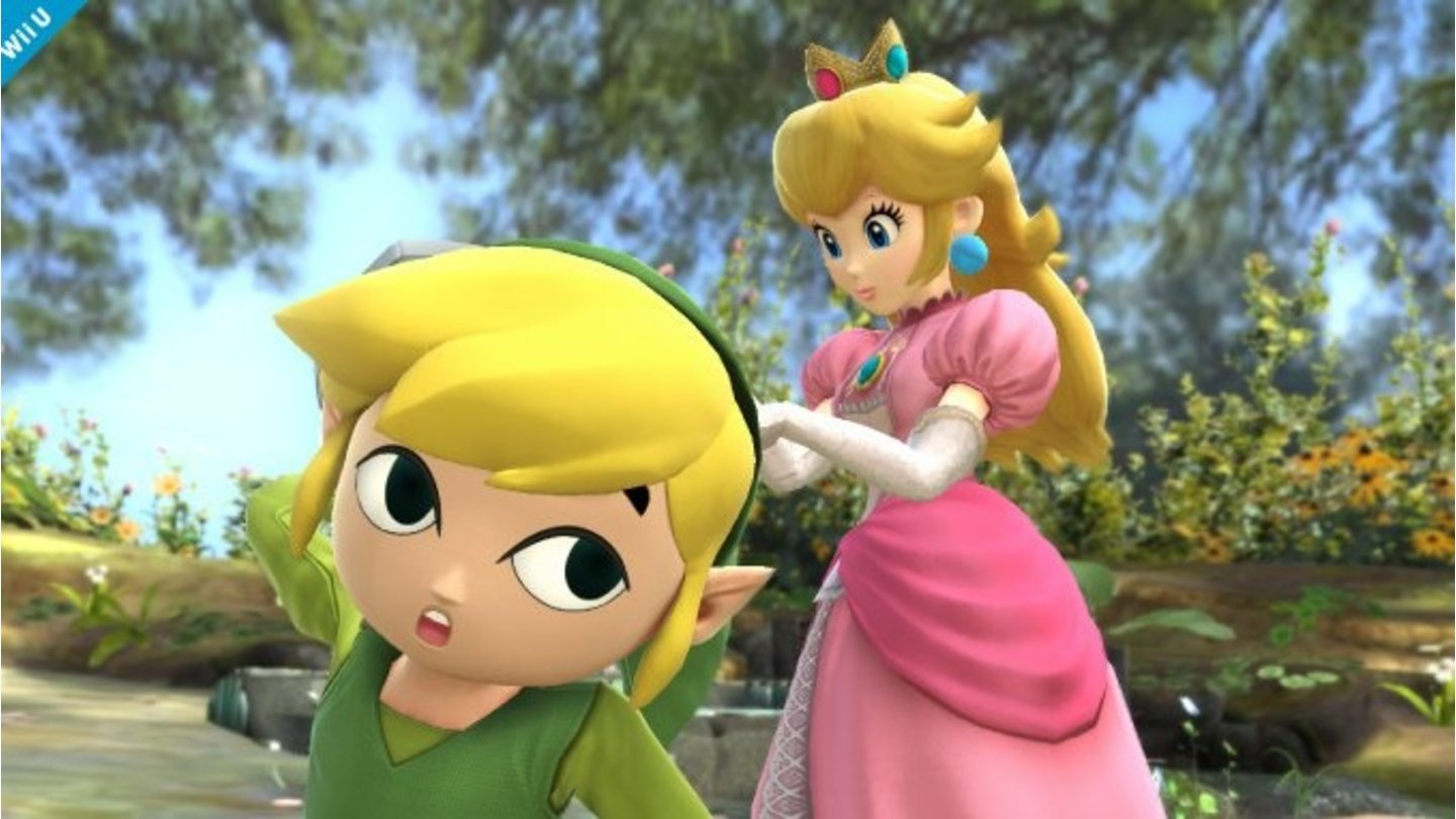 Super Smash Bros.Screenshots vom Comic-Link aus The Wind Waker.