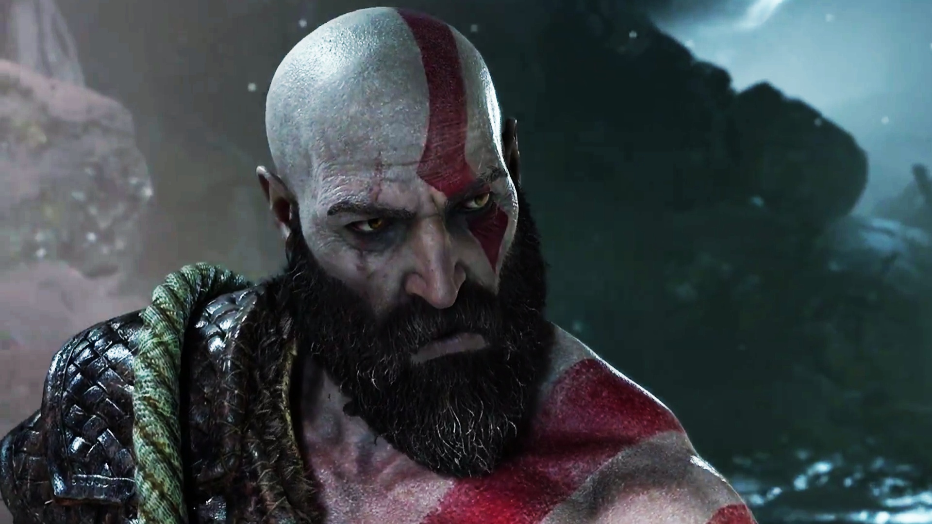 God Of War Offizielles Artwork Zeigt Kratos Atreus Im